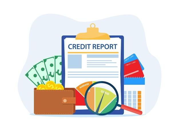 Concetto di documento di rapporto di credito.