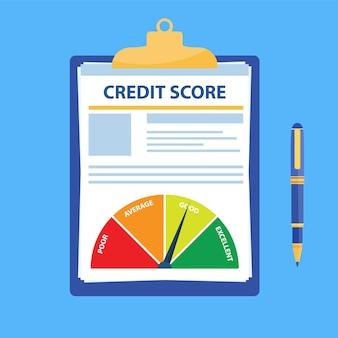 Documento del punteggio di credito.