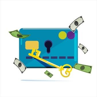 Carta di credito con chiave