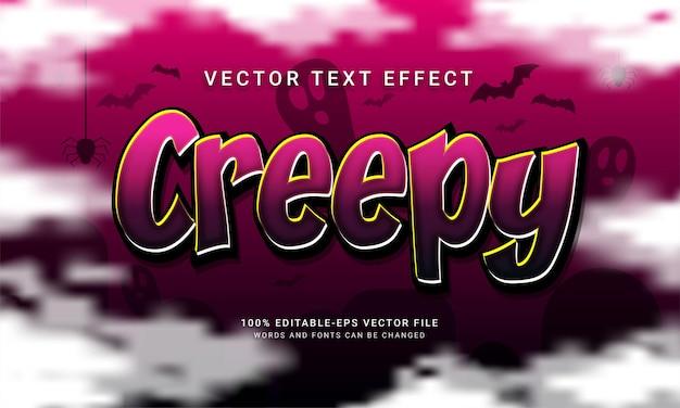 Effetto di stile di testo modificabile inquietante con tema evento di halloween
