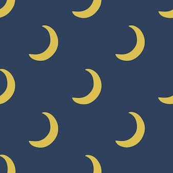 Crescent moon pattern background social media post vector illustration