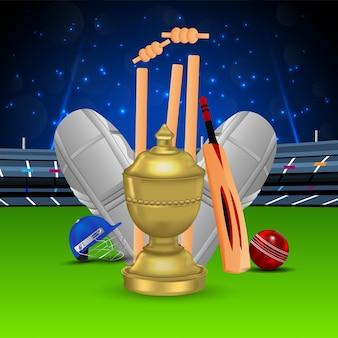 Illustrazione di campionato di cricket