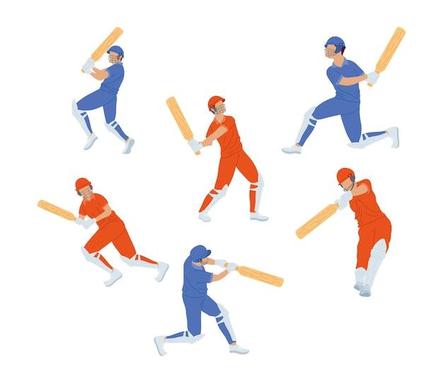 Set di giocatori di cricket