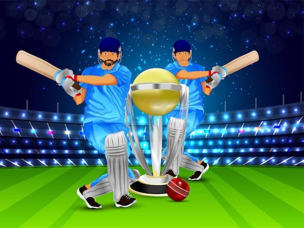 Biglietto di auguri per il campionato del torneo di cricket