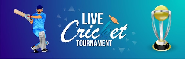 Banner di partita del torneo di cricket