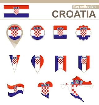 Collezione di bandiere della croazia, 12 versioni
