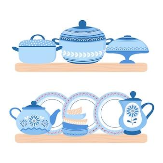 Set di pentole in ceramica per stoviglie