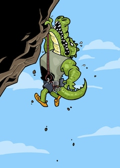 Croco the rock climber
