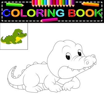 Libro da colorare di coccodrillo