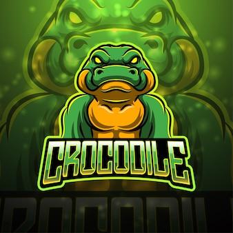 Design del logo mascotte sport coccodrillo