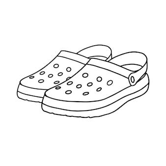 Crocs isolati su sfondo bianco
