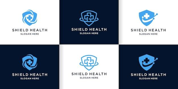Logo medico del logo della guardia incrociata