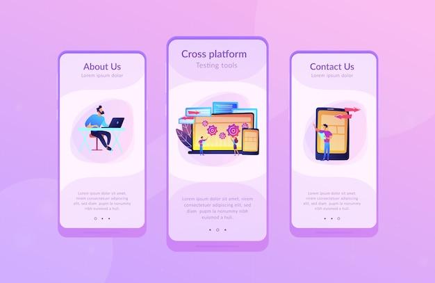 Modello di interfaccia dell'app per la creazione di bug tra piattaforme diverse.