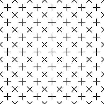 Motivo a croci in stile retrò anni '80 e '90. sfondo geometrico astratto