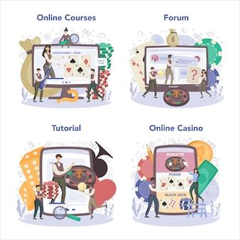 Servizio online di croupier o set di piattaforme