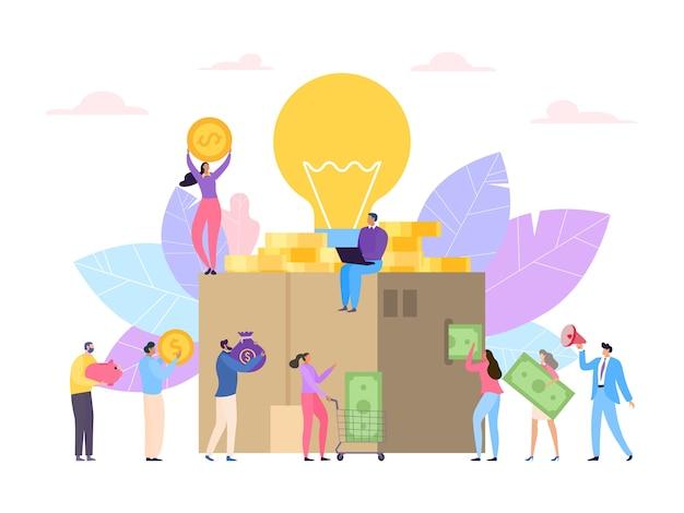 Illustrazione del concetto di crowdfunding