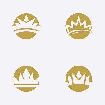 Modello di progettazione del logo del concetto di corona