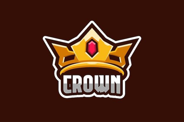 Modello di logo corona e-sport