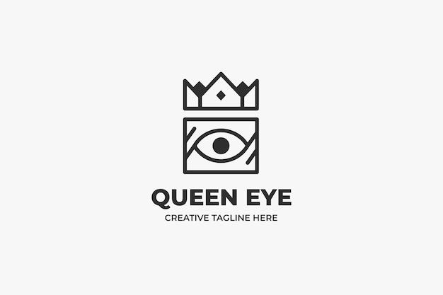 Logo semplice monolinea dell'occhio della corona