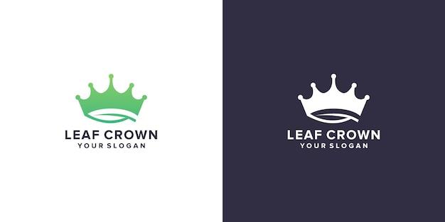 Logo verde foglia corona