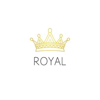 Concetto di design grafico del logo della corona. elemento corona modificabile, può essere utilizzato come logo, icona, modello nel web e stampa