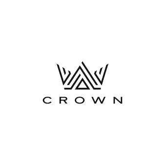 Corona icona logo illustrazione