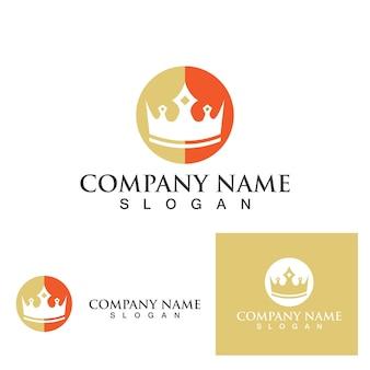 Progettazione dell'illustrazione dell'icona di vettore del modello di logo della corona