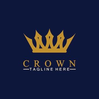 Corona logo template illustrazione vettoriale