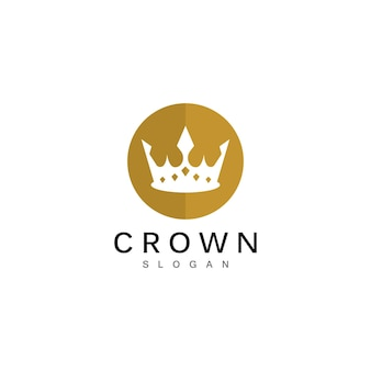 Modello logo corona crown