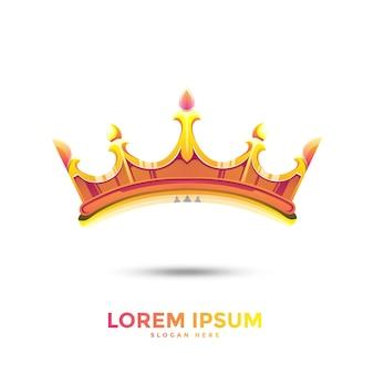 Modello logo corona