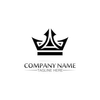 Modello di logo della corona