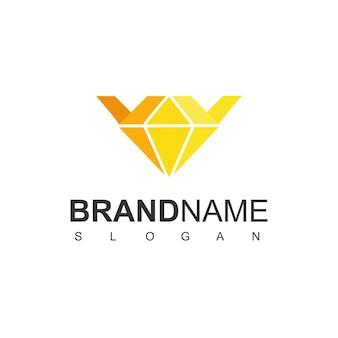 Logo della corona con simbolo del diamante