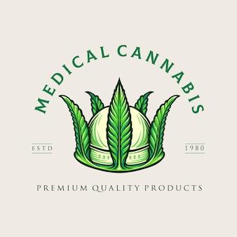 Crown medical cannabis logo weed company e negozio online di marijuana
