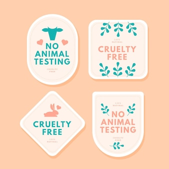 Set di badge senza crudeltà