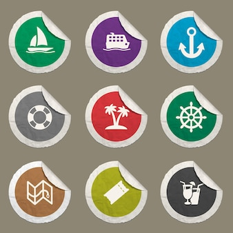 Icone di crociera impostate per siti web e interfaccia utente