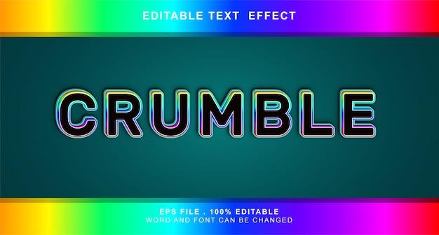 Crumble effetto testo modificabile