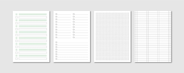 Foglio di carta stropicciata per quaderni a4 raccolta di diari