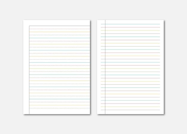 Quaderno stropicciato foglio di carta a4 journal