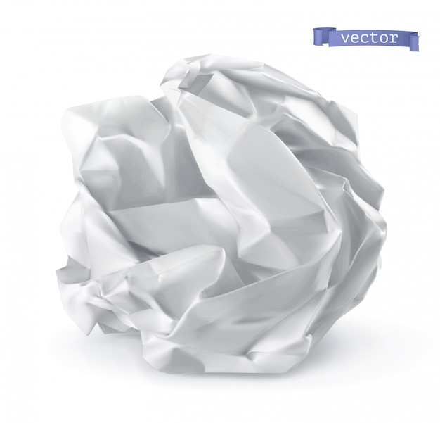 Palla di carta stropicciata