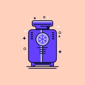 Icona di crioterapia con criosauna, vettore
