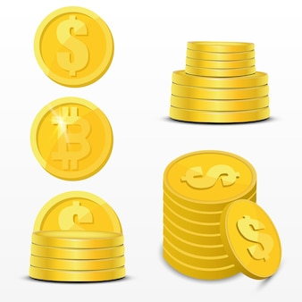 Illustrazione di valuta crypto. set di denaro digitale