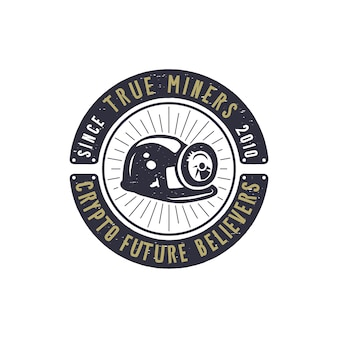 Emblema di mining crypto.