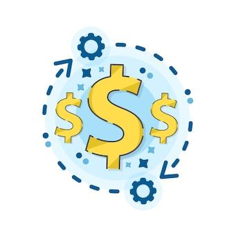 Mercato di criptovaluta per lo scambio. servizio di cambio valuta mobile