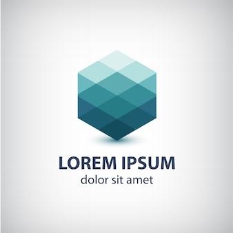 Icona astratta di cristallo, logo per la tua azienda