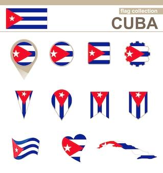 Collezione bandiera cuba, 12 versioni