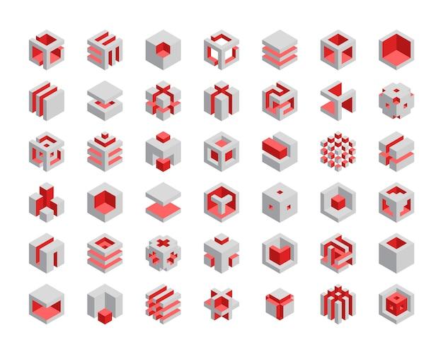 Set di cubi 3d