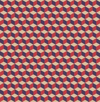 Modello di cubi. sfondo semplice geometrico. illustrazione di stile creativo ed elegante