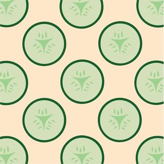 Modello di cetriolo sfondo vegetale illustrazione vettoriale