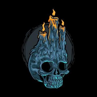 Illustrazione del cranio di culto