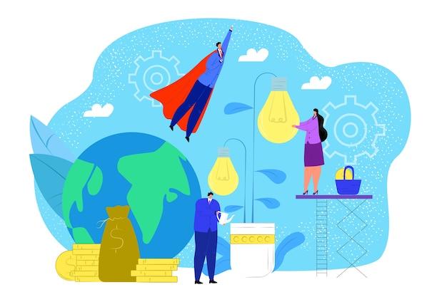 Coltivazione di idee concetto illustrazione